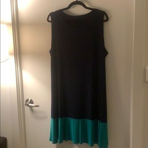 Size 18 Navy and Kelly Green Dress